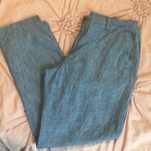 Gap chambray ankle pants
